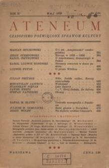 Ateneum. Czasopismo poświęcone sprawom kultury, 1939, R. 2, nr 3 (9)