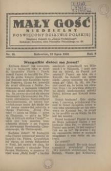 Mały Gość Niedzielny, 1931, R. 6, nr 15
