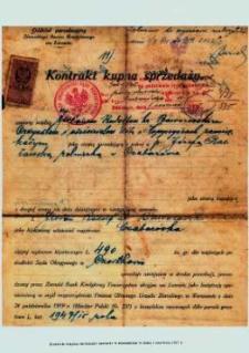 Kontrakt kupna sprzedaży zawarty w Husiatynie w dniu 1.06.1927 r.