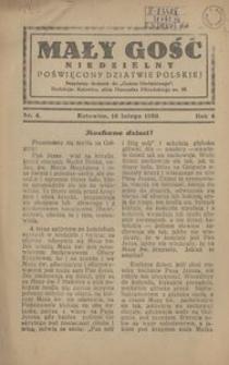 Mały Gość Niedzielny, 1930, R. 4, nr 4