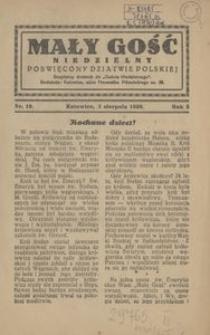 Mały Gość Niedzielny, 1930, R. 4, nr 19
