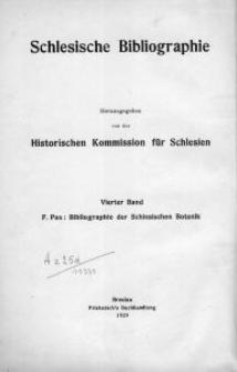 Bibliographie der schlesischen Botanik