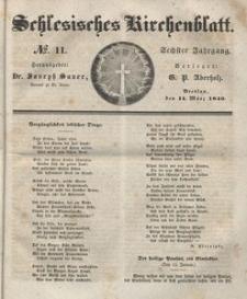 Schlesisches Kirchenblatt, 1840, Jg. 6, nr 11