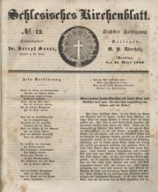 Schlesisches Kirchenblatt, 1840, Jg. 6, nr 12