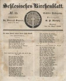 Schlesisches Kirchenblatt, 1840, Jg. 6, nr 15
