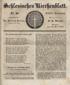 Schlesisches Kirchenblatt, 1840, Jg. 6, nr 20