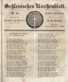 Schlesisches Kirchenblatt, 1840, Jg. 6, nr 45