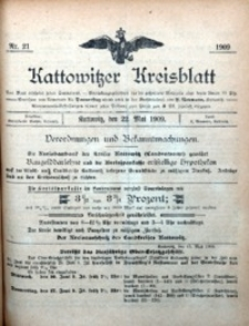 Kattowitzer Kreisblatt, 1909, nr21