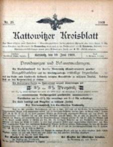 Kattowitzer Kreisblatt, 1909, nr25