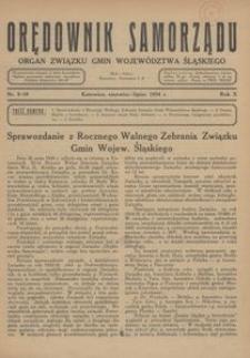 Orędownik Samorządu, 1934, R. 10, nr 9/10