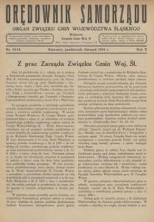Orędownik Samorządu, 1934, R. 10, nr 13/14