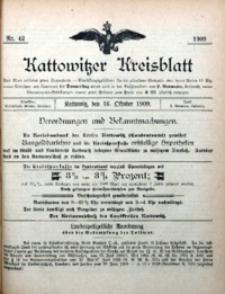 Kattowitzer Kreisblatt, 1909, nr42