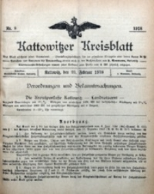 Kattowitzer Kreisblatt, 1918, nr8
