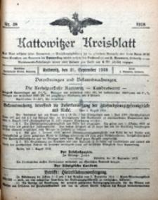Kattowitzer Kreisblatt, 1918, nr38