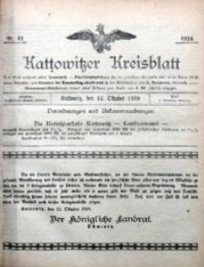 Kattowitzer Kreisblatt, 1918, nr41