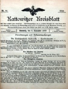 Kattowitzer Kreisblatt, 1918, nr44
