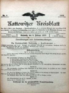 Kattowitzer Kreisblatt, 1919, nr6
