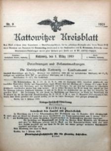 Kattowitzer Kreisblatt, 1919, nr9