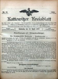 Kattowitzer Kreisblatt, 1919, nr16