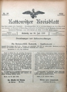 Kattowitzer Kreisblatt, 1919, nr29