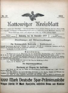 Kattowitzer Kreisblatt, 1919, nr47