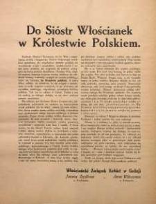 Do Sióstr Włościanek w Królestwie Polskiem. Włościański Związek Kobiet w Galicji