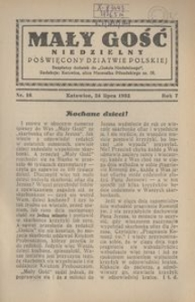 Mały Gość Niedzielny, 1932, R. 7, nr 16
