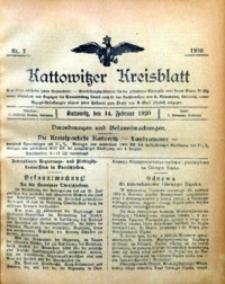 Kattowitzer Kreisblatt, 1920, nr7