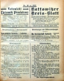 Kattowitzer Kreisblatt, 1920, nr26