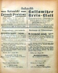 Kattowitzer Kreisblatt, 1920, nr35