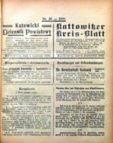 Kattowitzer Kreisblatt, 1920, nr36