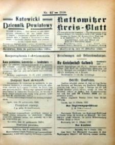 Kattowitzer Kreisblatt, 1920, nr42