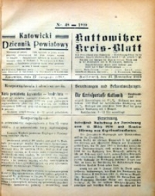 Kattowitzer Kreisblatt, 1920, nr48