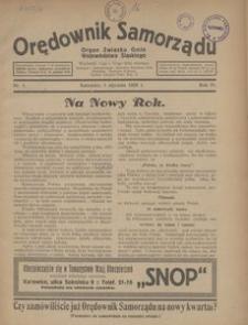 Orędownik Samorządu. Organ Związku Gmin Województwa Śląskiego, 1928, R. 4, nr 1