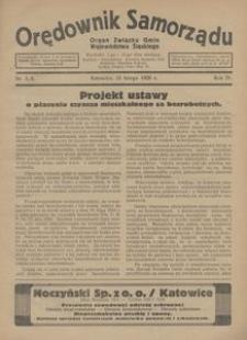 Orędownik Samorządu. Organ Związku Gmin Województwa Śląskiego, 1928, R. 4, nr 3/4