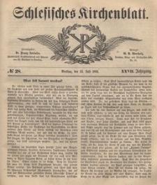 Schlesisches Kirchenblatt, 1861, Jg. 27, nr 28