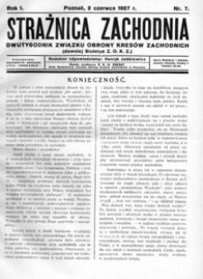 Strażnica Zachodnia, 1927, R. 1, nr 7