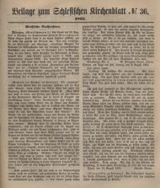 Beilage zum Schlesischen Kirchenblatt, 1861, Jg. 27, No. 36