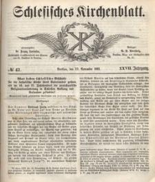 Schlesisches Kirchenblatt, 1861, Jg. 27, nr 47