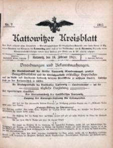 Kattowitzer Kreisblatt, 1911, nr7