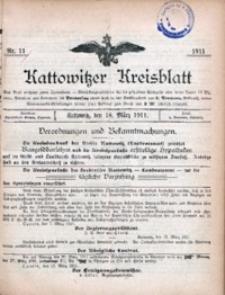 Kattowitzer Kreisblatt, 1911, nr11