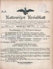 Kattowitzer Kreisblatt, 1911, nr14