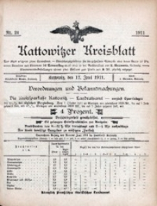 Kattowitzer Kreisblatt, 1911, nr24