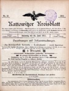 Kattowitzer Kreisblatt, 1911, nr25