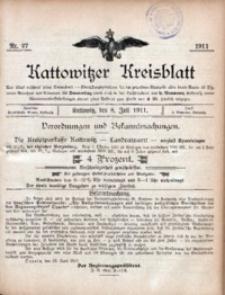 Kattowitzer Kreisblatt, 1911, nr27
