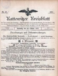 Kattowitzer Kreisblatt, 1911, nr43