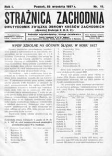 Strażnica Zachodnia, 1927, R. 1, nr 15