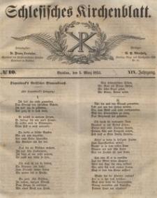 Schlesisches Kirchenblatt, 1853, Jg. 19, nr 10