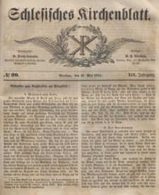 Schlesisches Kirchenblatt, 1853, Jg. 19, nr 20