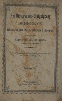 Rys historyczno-statystyczny Ochrony 9-ej imienia księdza Piotra Gabryela Baudouin'a